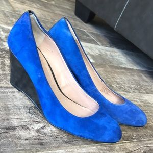 Vince Camuto Blue Suede Wedge